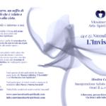 """Volantino della Mostra Collettiva del Movimento Arte Spirituale: """"L'Invisibile"""" - 24 e 25 Novembre 2018 a Ravenna presso Kirecò. Pagine Esterne"""