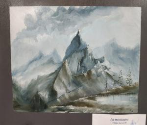 """Filippo Baroncelli - """"La montagna"""". Montagna imponente in lontananza"""