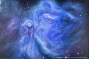 Marina Ravaioli - Visione della Nebulosa Butterfly in azzurro